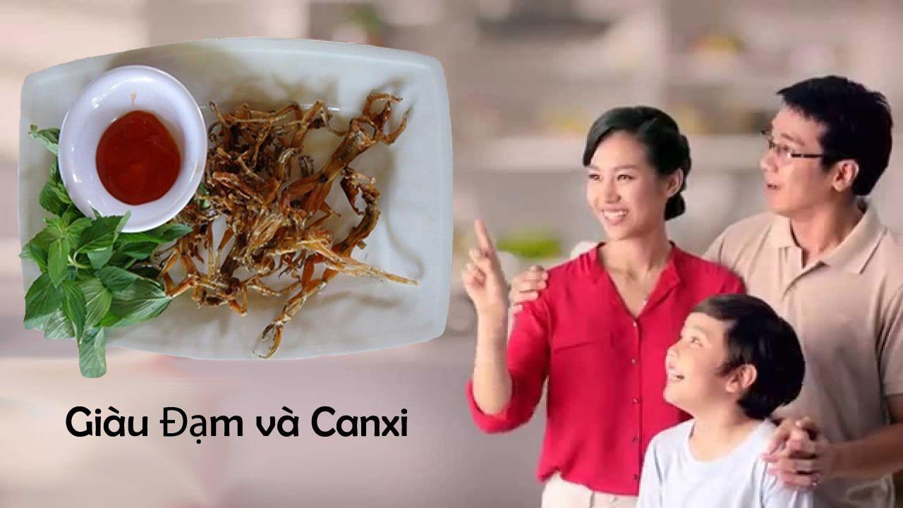 Khô Nhái An Giang giàu đạm canxi